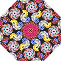 Colorful Retro Circular Pattern Hook Handle Umbrellas (Large) View1