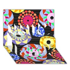 Colorful Retro Circular Pattern You Rock 3D Greeting Card (7x5)