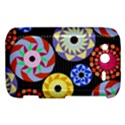 Colorful Retro Circular Pattern HTC Wildfire S A510e Hardshell Case View1