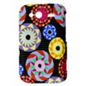 Colorful Retro Circular Pattern HTC Wildfire S A510e Hardshell Case View3