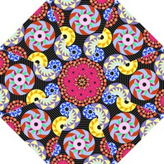Colorful Retro Circular Pattern Hook Handle Umbrellas (small)