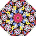 Colorful Retro Circular Pattern Hook Handle Umbrellas (Small) View1
