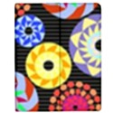 Colorful Retro Circular Pattern Apple iPad 2 Flip Case View1