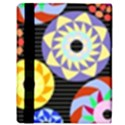 Colorful Retro Circular Pattern Apple iPad 2 Flip Case View3