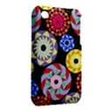 Colorful Retro Circular Pattern Apple iPhone 3G/3GS Hardshell Case (PC+Silicone) View2