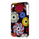 Colorful Retro Circular Pattern Apple iPhone 3G/3GS Hardshell Case (PC+Silicone) View3