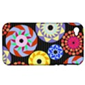 Colorful Retro Circular Pattern Apple iPhone 4/4S Hardshell Case (PC+Silicone) View1