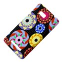 Colorful Retro Circular Pattern HTC One SU T528W Hardshell Case View4