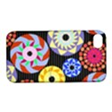 Colorful Retro Circular Pattern Apple iPhone 4/4S Hardshell Case with Stand View1