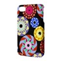 Colorful Retro Circular Pattern Apple iPhone 4/4S Hardshell Case with Stand View3
