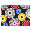 Colorful Retro Circular Pattern Samsung Galaxy Tab 10.1  P7500 Flip Case View1