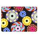 Colorful Retro Circular Pattern Samsung Galaxy Tab 8.9  P7300 Flip Case View1