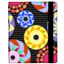 Colorful Retro Circular Pattern Samsung Galaxy Tab 8.9  P7300 Flip Case View2