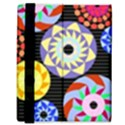 Colorful Retro Circular Pattern Samsung Galaxy Tab 8.9  P7300 Flip Case View3