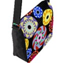 Colorful Retro Circular Pattern Flap Messenger Bag (L)  View2