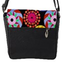 Colorful Retro Circular Pattern Flap Messenger Bag (S) View1