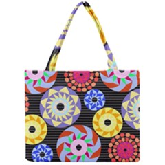 Colorful Retro Circular Pattern Mini Tote Bag