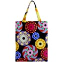 Colorful Retro Circular Pattern Zipper Classic Tote Bag View1