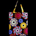 Colorful Retro Circular Pattern Zipper Classic Tote Bag View2