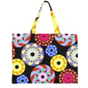 Colorful Retro Circular Pattern Large Tote Bag View1