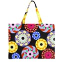 Colorful Retro Circular Pattern Large Tote Bag View2