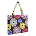 Colorful Retro Circular Pattern Medium Tote Bag View2