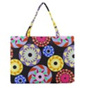 Colorful Retro Circular Pattern Medium Zipper Tote Bag View1