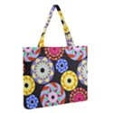 Colorful Retro Circular Pattern Medium Zipper Tote Bag View2