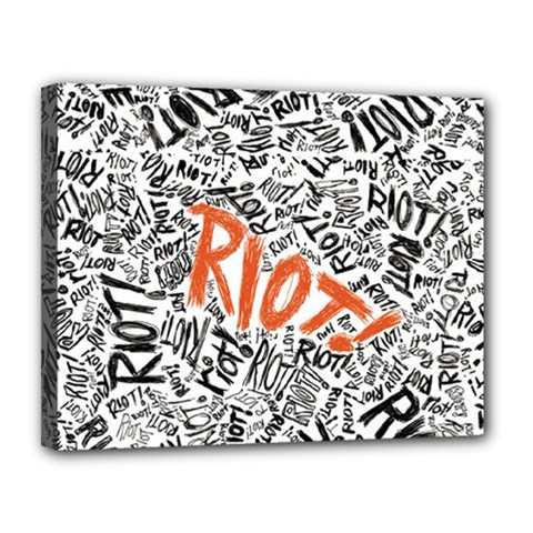 Paramore Is An American Rock Band Canvas 14  X 11