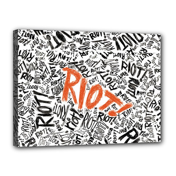 Paramore Is An American Rock Band Canvas 16  x 12