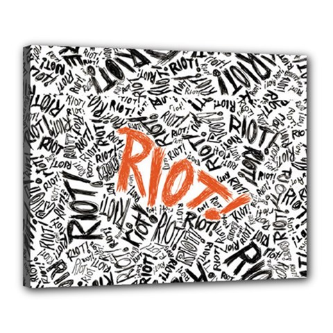 Paramore Is An American Rock Band Canvas 20  X 16