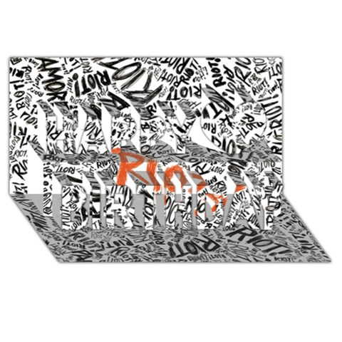 Paramore Is An American Rock Band Happy Birthday 3D Greeting Card (8x4)