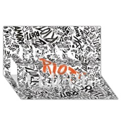 Paramore Is An American Rock Band Best Friends 3D Greeting Card (8x4)