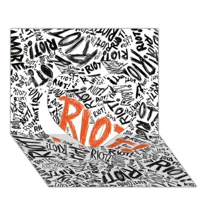 Paramore Is An American Rock Band Heart 3D Greeting Card (7x5)