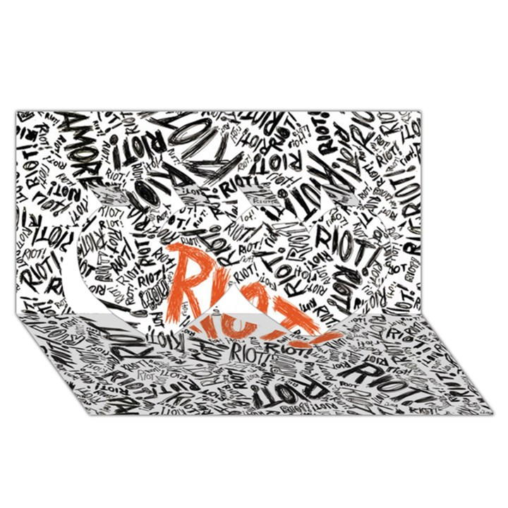 Paramore Is An American Rock Band Twin Hearts 3D Greeting Card (8x4)