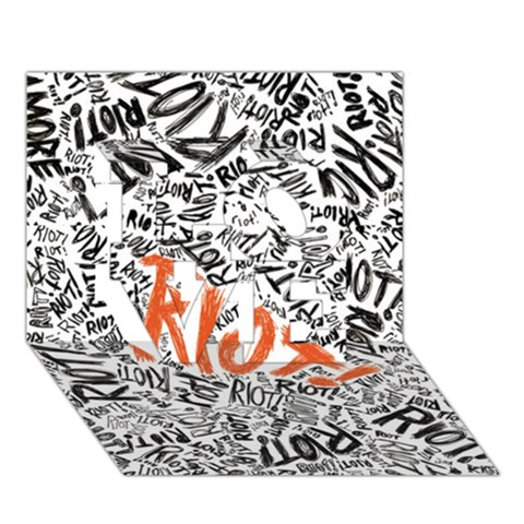Paramore Is An American Rock Band LOVE 3D Greeting Card (7x5)