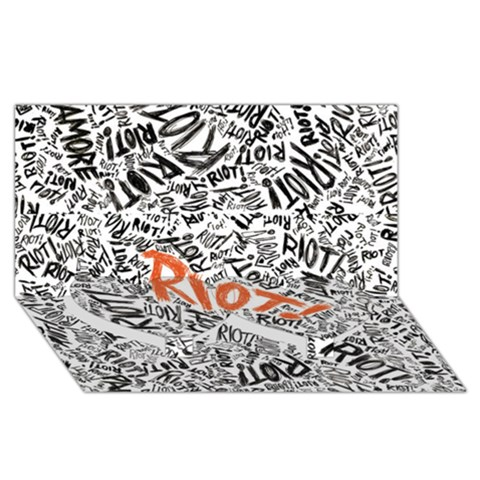 Paramore Is An American Rock Band Twin Heart Bottom 3D Greeting Card (8x4)