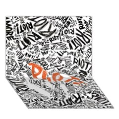 Paramore Is An American Rock Band Love Bottom 3d Greeting Card (7x5)
