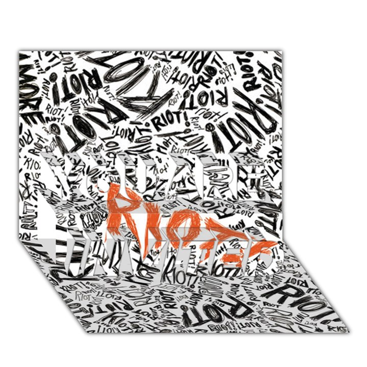 Paramore Is An American Rock Band YOU ARE INVITED 3D Greeting Card (7x5)