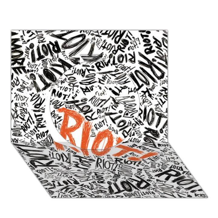 Paramore Is An American Rock Band Circle 3D Greeting Card (7x5)