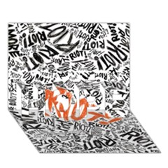 Paramore Is An American Rock Band HOPE 3D Greeting Card (7x5)