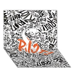 Paramore Is An American Rock Band Ribbon 3D Greeting Card (7x5)