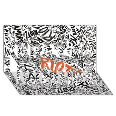 Paramore Is An American Rock Band Best Wish 3D Greeting Card (8x4)
