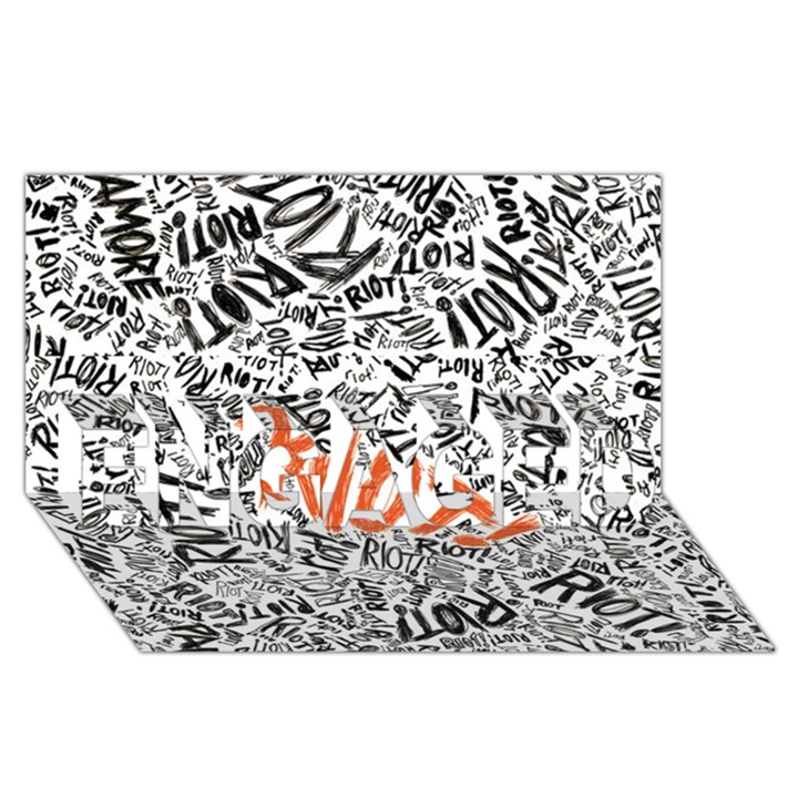 Paramore Is An American Rock Band ENGAGED 3D Greeting Card (8x4)