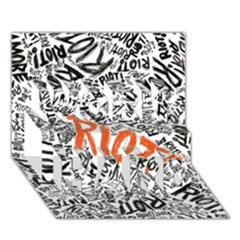 Paramore Is An American Rock Band WORK HARD 3D Greeting Card (7x5)