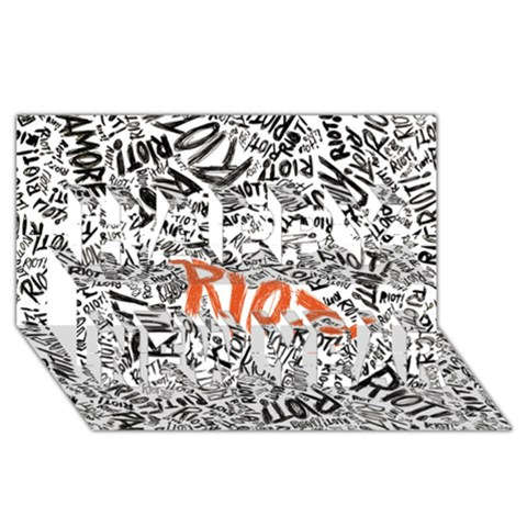 Paramore Is An American Rock Band Happy New Year 3D Greeting Card (8x4)