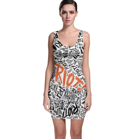 Paramore Is An American Rock Band Sleeveless Bodycon Dress