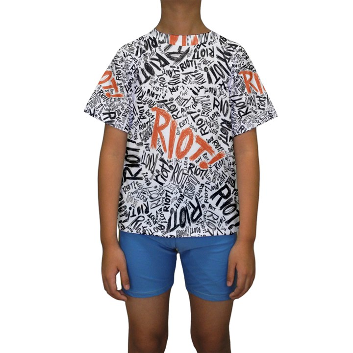 Paramore Is An American Rock Band Kids  Short Sleeve Swimwear