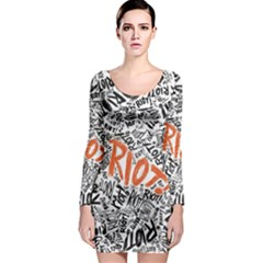 Paramore Is An American Rock Band Long Sleeve Bodycon Dress