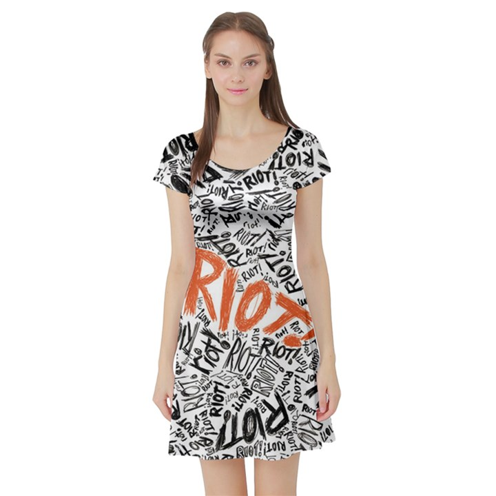 Paramore Is An American Rock Band Short Sleeve Skater Dress